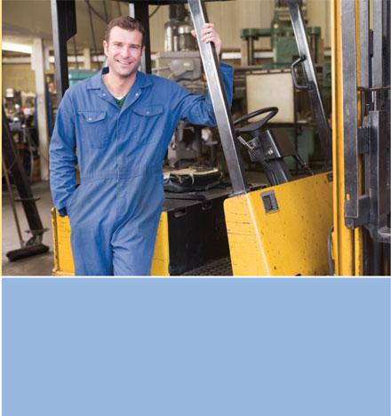 workFORCE Specialty Exams Image of Man near Equipment